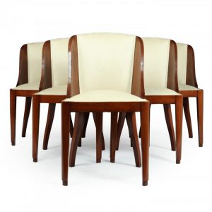 Set of 6 French Art Deco Dining Chairs Antique Chairs
