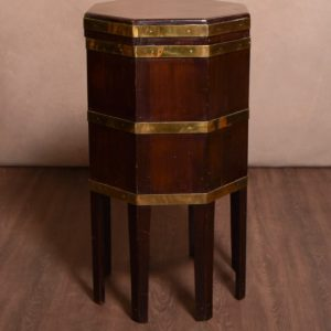 Handsome George III Brass Bound Mahogany Cellaret SAI1392 Antique Furniture
