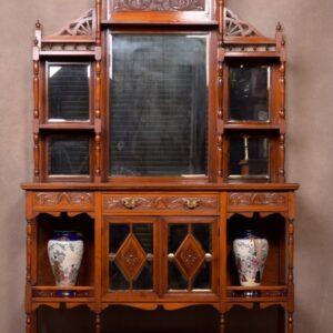 Impressive Carved Mahogany Mirror Back Sideboard SAI1678 Antique Furniture