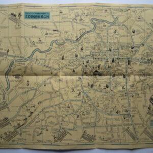 Scotland – Edinburgh – Pictorial map antique maps, vintage maps, folding maps, pictorial maps, scotland, edinburgh Antique Maps