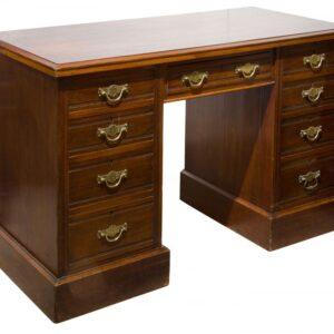 Edwardian mahogany pedestal desk Antique Desks