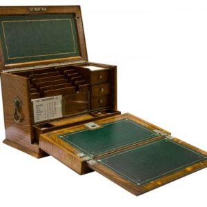 Exceptional oak stationary box circa 1903 Antique Boxes
