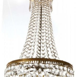 French tent and waterfall chandelier c1950 Antique Lighting