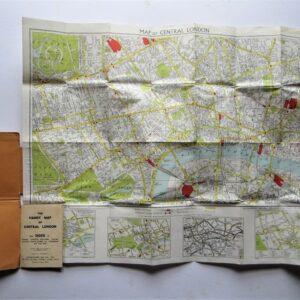 London – folding map – vintage antique maps, vintage maps, folding maps, london Antique Maps