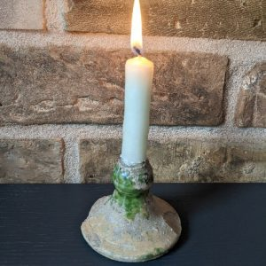 Medieval Green Glaze Candle Stick Antiquities