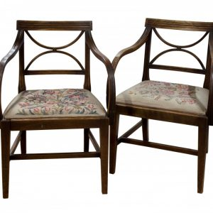 Pair of Hepplewhite period mahogany carver chairs c1780 Antique Chairs