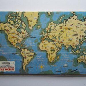 World – Jigsaw Puzzle – Cartographic curiosity Antique toys, vintage maps, world, jigsaw puzzles Antique Toys