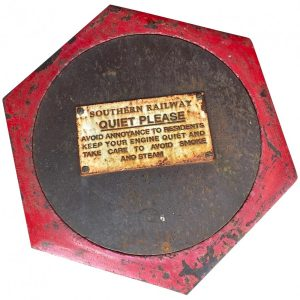 Large Rusted Cast Iron Railway Plaque Sign Train Notice cast iron Vintage