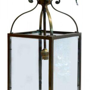 Small brass hanging hall lantern circa1900 Antique Lighting