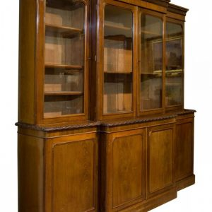 Victorian breakfront bookcase Antique Bookcases
