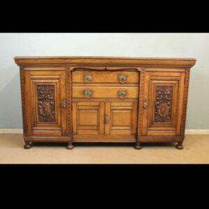 Antique Late 19th Century Oak Sideboard Dresser Base