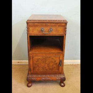 Burr Walnut Bedside Cabinet