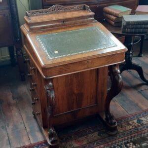 19th Century Walnut Davenport Antique Desks