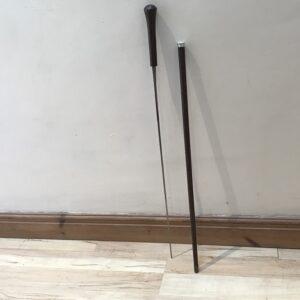 Gentleman's walking stick sword stick with silver collar hallmarked Birmingham 1923 Miscellaneous
