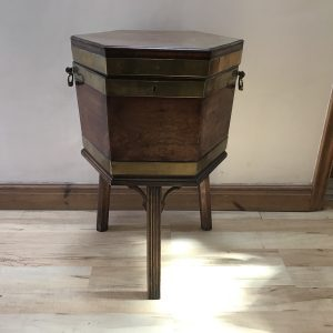 Wine cooler, mahogany all original & complete with liner Antique Furniture