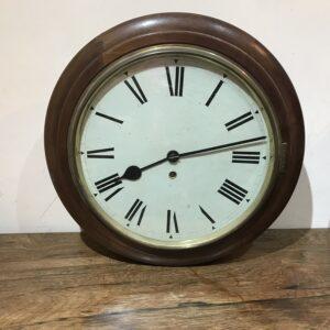 Fusee wall clock mahogany 1900's Antique Clocks