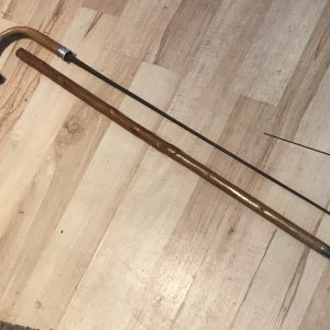 Gentleman's walking stick sword stick with silver collar Miscellaneous