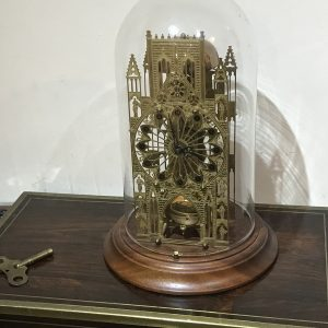 Cathedral skeleton glass dome clock Antique Clocks