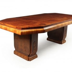 Art Deco Burr Walnut Dining Table dining table Antique Furniture