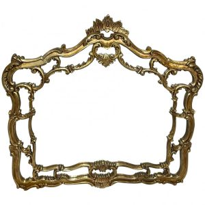 Large Fine French Regency Gilt Pier Glass Acanthus Crown Wall Overmantle Mirror acanthus Vintage