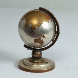 Globe Bedside Travel or Desk Clock c1950 antique maps, vintage maps, globe, Antique Clocks