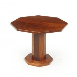 Art Deco Solid Walnut Octagonal Table Antique Tables