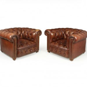 Vintage Leather Chesterfield Club Chairs Antique Chairs