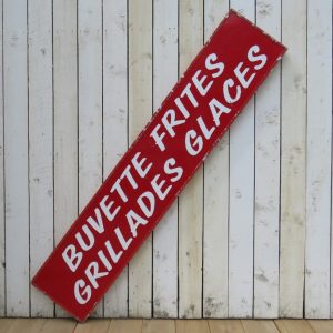 Vintage French Cafe Bar Sign advertisement Architectural Antiques