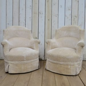 Pair Of Antique French Tub Armchairs armchairs Antique Chairs