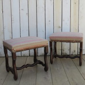 Pair Of French Oak Foot Stools a pair Antique Furniture