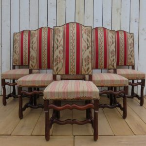 Set Of Six French Dining Chairs chairs Antique Chairs