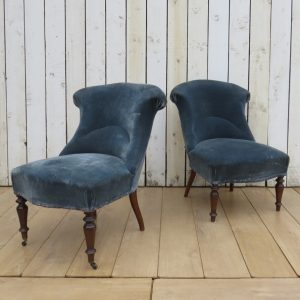 Pair Antique French Tub Chairs For Re-upholstery Antique Antique Chairs