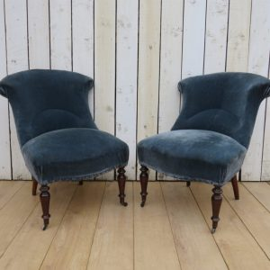 Pair Antique French Tub Chairs armchairs Antique Chairs