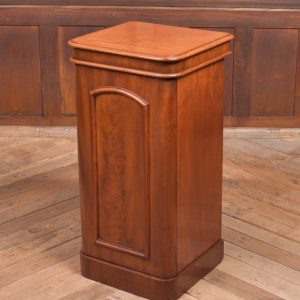 Victorian Flame Mahogany Bedside Cabinet SAI2267 Antique Cupboards