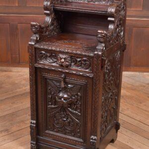 Edwardian Oak Carved Purdonium /coal Depo By Edwards And Roberts SAI2269 Antique Boxes