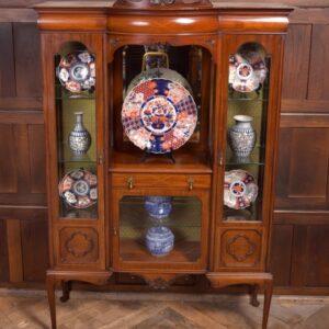 Edwardian Mahogany Inlaid Display Cabinet SAI2270 Antique Cabinets