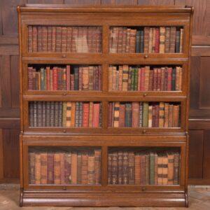 EDWARDIAN OAK 4 SECTIONAL BOOKCASE SAI2268 Antique Bookcases