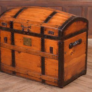 Victorian Pine Dome Top Trunk SAI2288 Antique Coffers 2