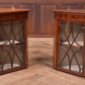 Pair Of Edwardian Mahogany Corner Cabinets SAI2309 Antique Cabinets