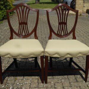 Pair of Hepplewhite period mahogany chairs circa 1790 chairs Antique Chairs