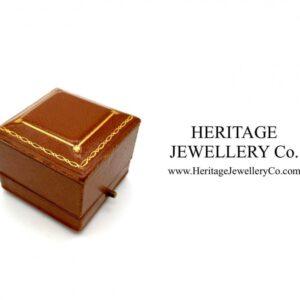 Antique Tooled Leather Ring Box Antique Antique Jewellery