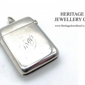Victorian Silver Vesta Case by Stokes & Ireland (c. 1895) Antique Antique Jewellery