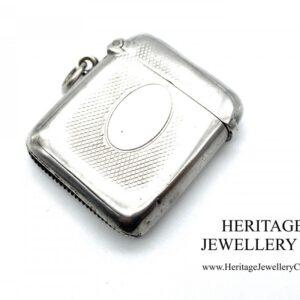 Victorian Silver Vesta Case by Arthur & John Zimmerman (c. 1886) Antique Antique Jewellery
