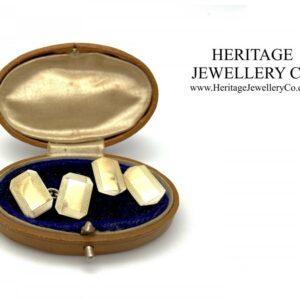 Art Deco Cufflinks with Antique Box cufflinks Antique Jewellery
