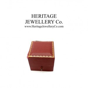 Vintage Tooled Leather Ring Box with Gold Trim Antique Antique Jewellery