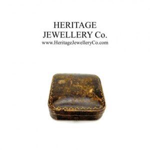 Antique Tooled Leather Jewellery Box Antique Antique Jewellery