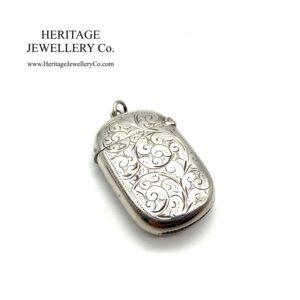 Victorian Silver Vesta Case (c. 1897) Antique Antique Jewellery