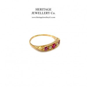 Antique Gold, Ruby and Diamond Ring Antique Antique Jewellery