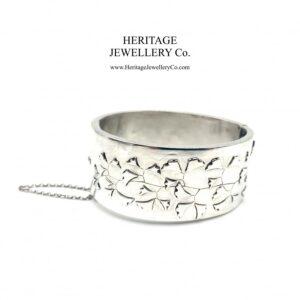 Antique Victorian Silver Bangle Bracelet (c. 1879) Bangle Antique Jewellery