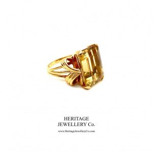 Antique Citrine Ring by Clerc Paris with Original Box Antique Antique Jewellery